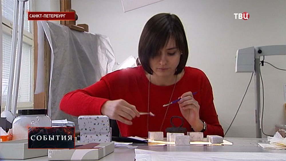 Реставрационная лаборатория Эрмитажа