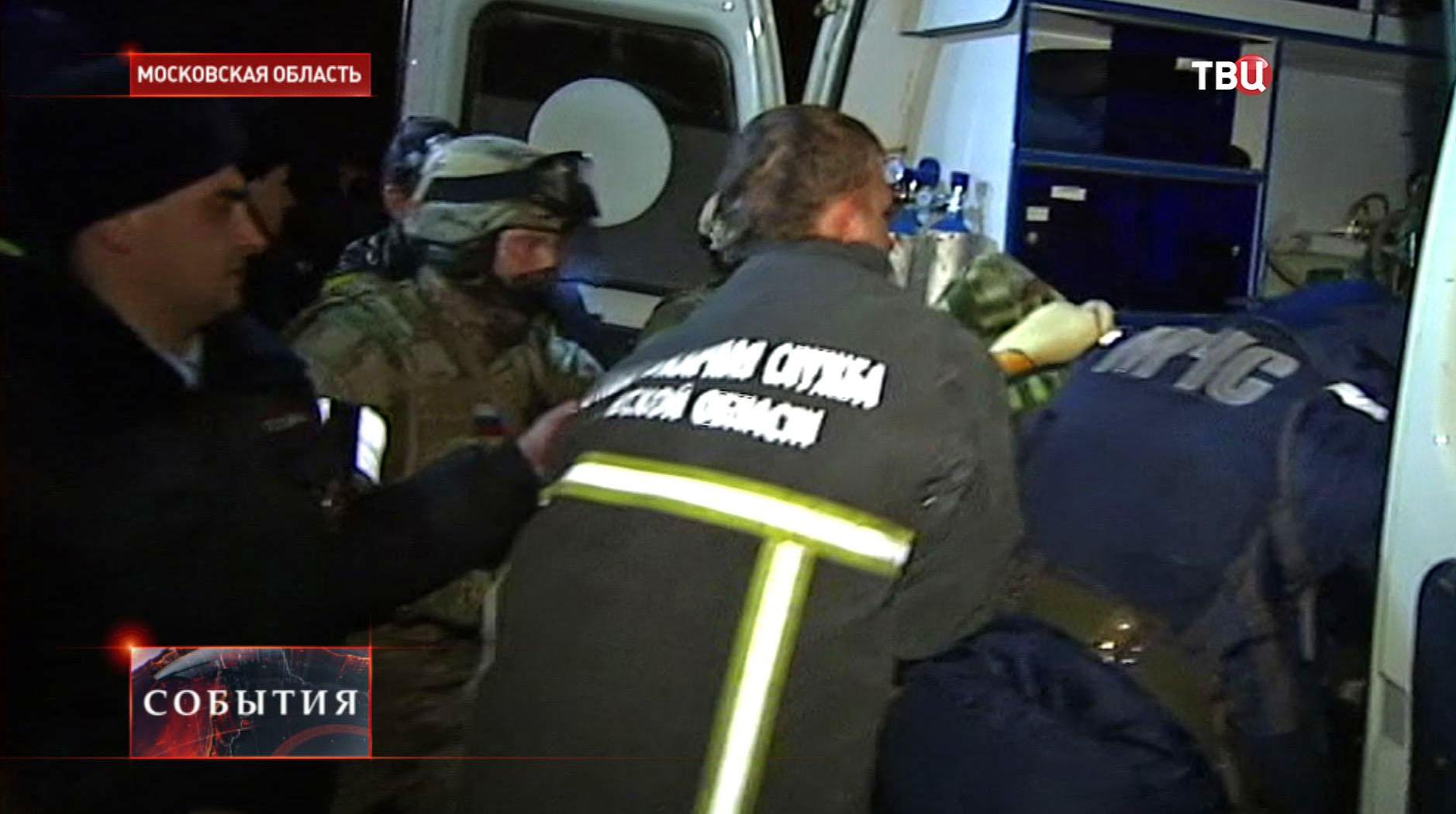МЧС на месте захвата заложника в Нахабино