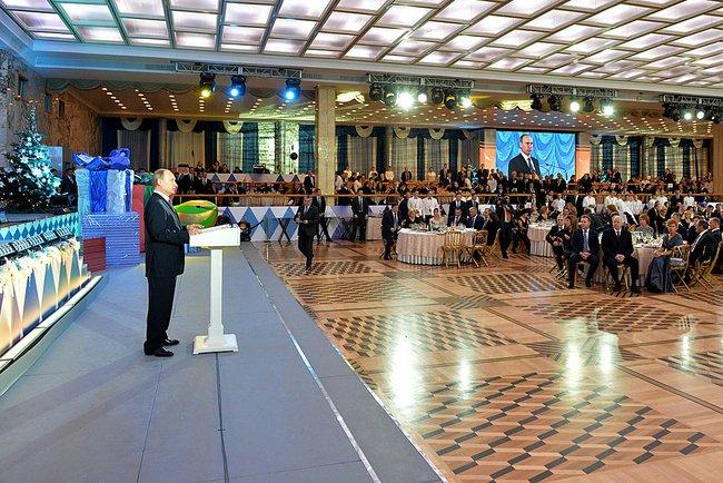 Владимир Путин на новогоднем приёме в Кремле