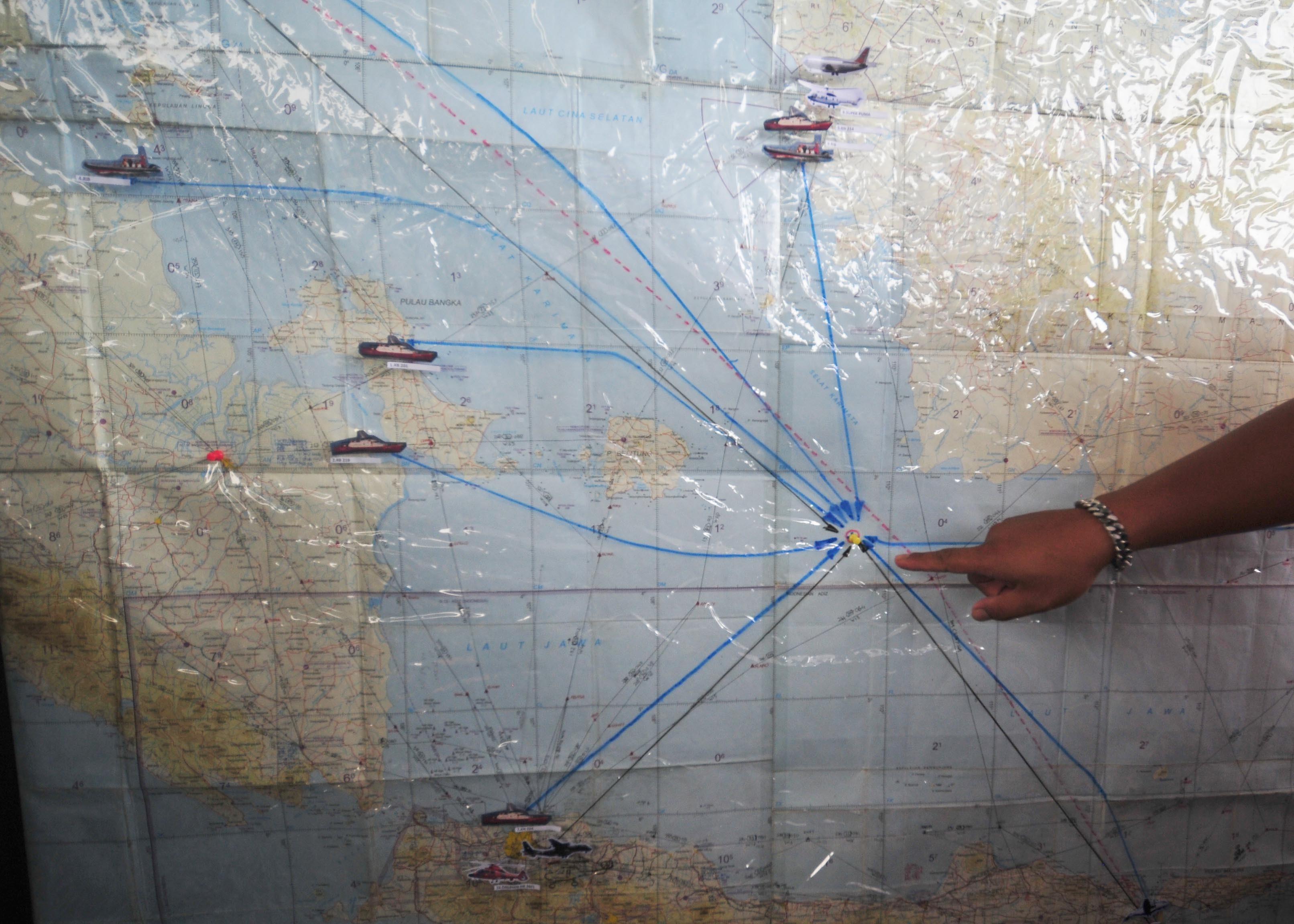Возможное место крушения лайнера авиакомпании AirAsia