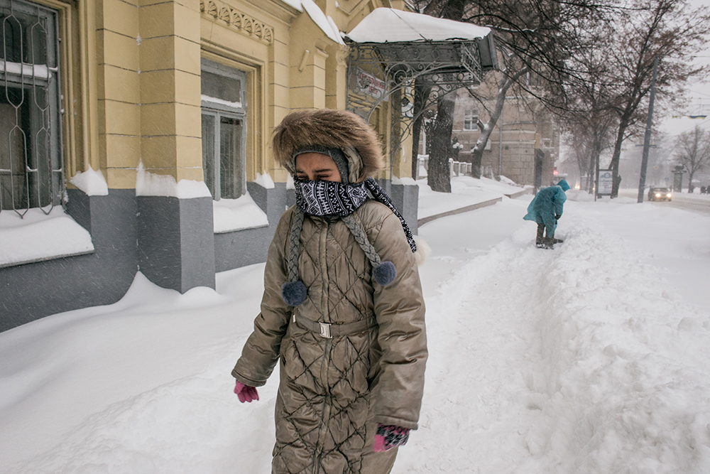 Снегопад на Украине