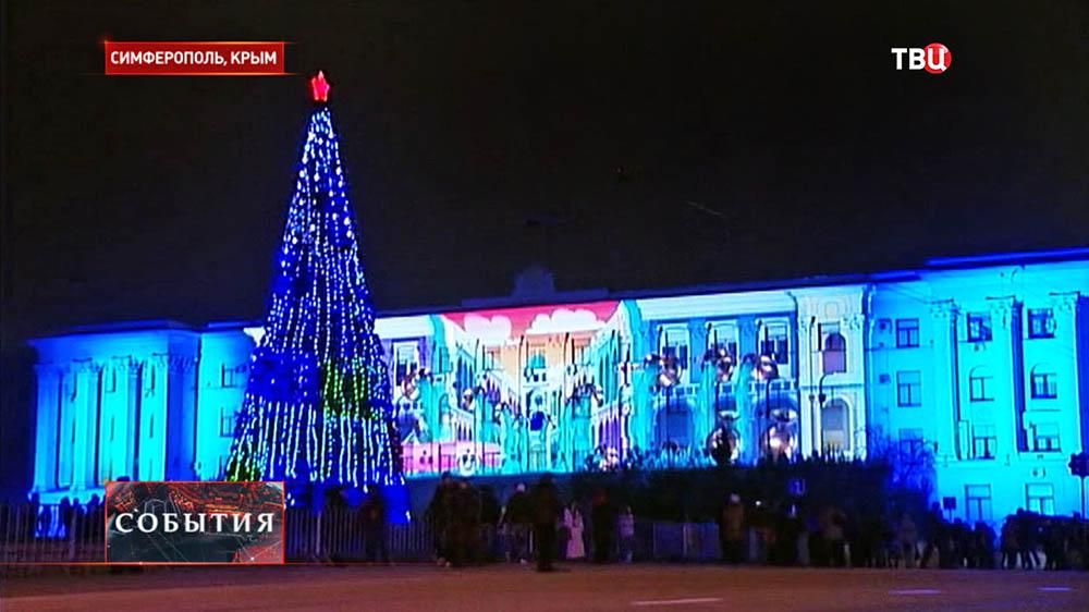 Новогодняя ель в Симферополе