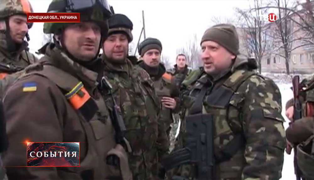 Александр Турчинов в Донецкой области