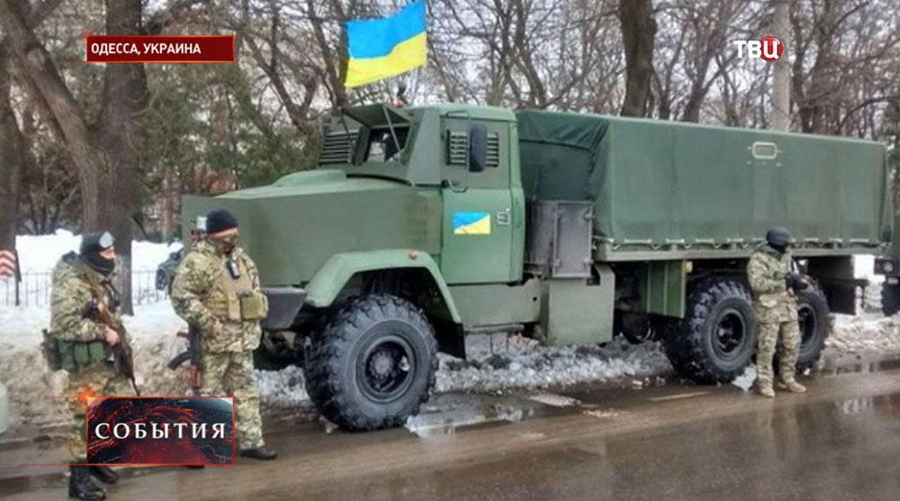 Военный патруль в Одессе