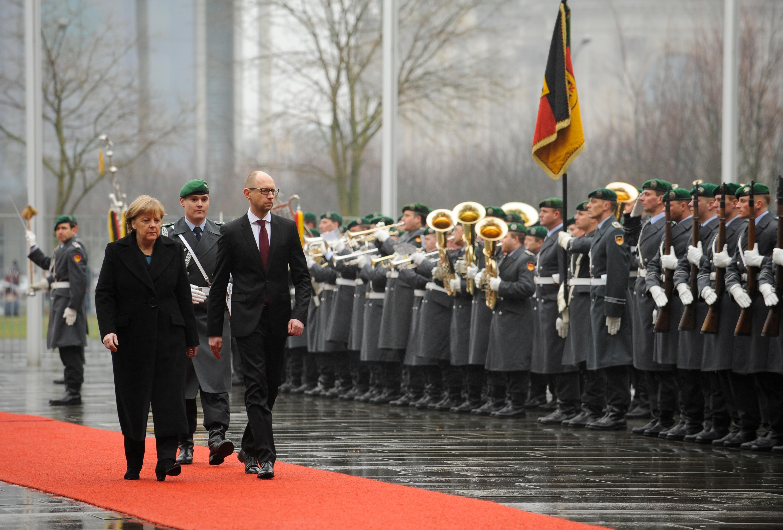 Визит премьер-министра Украины Арсения Яценюка в Германию
