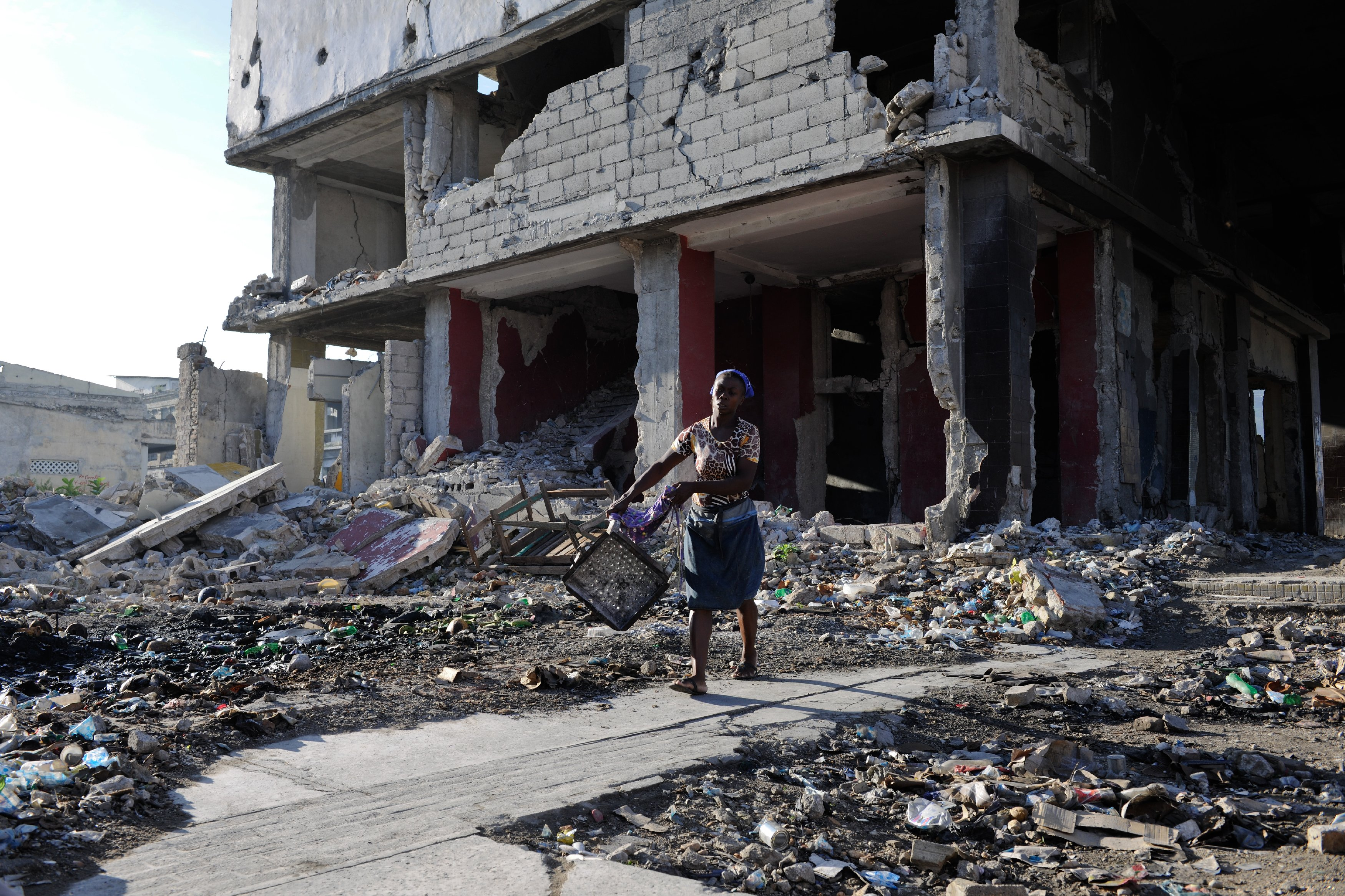 Столица Гаити Порт-о-Пренсе. Последствия землетрясения