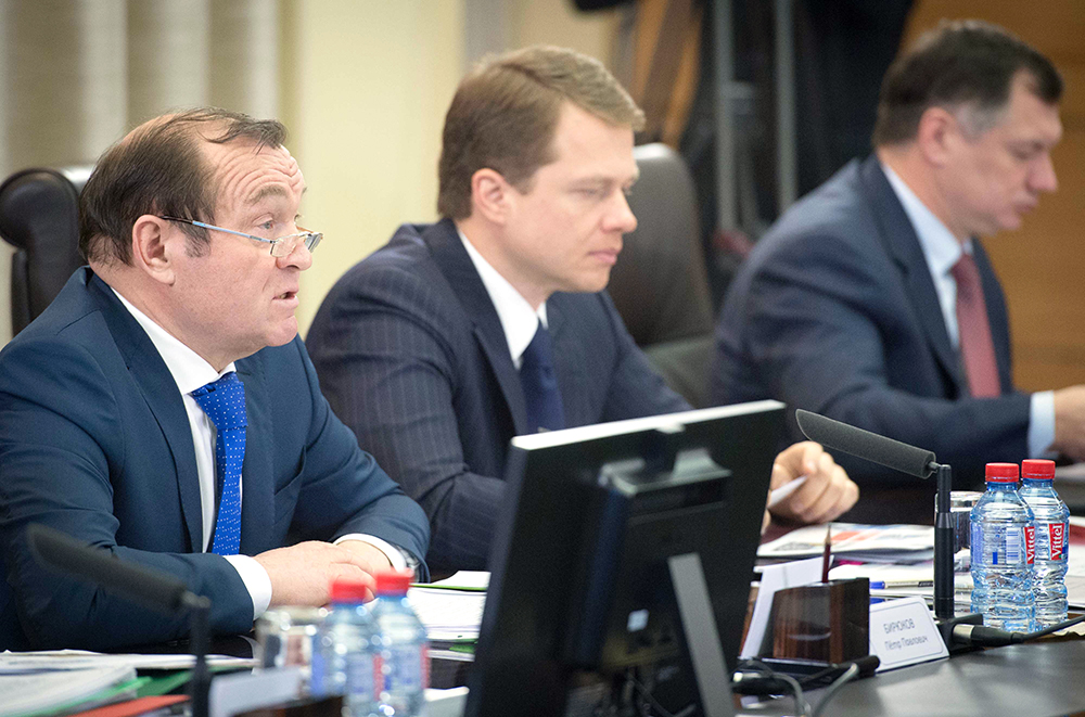 Петр Бирюков, Максим Ликсутов, Марат Хуснуллин