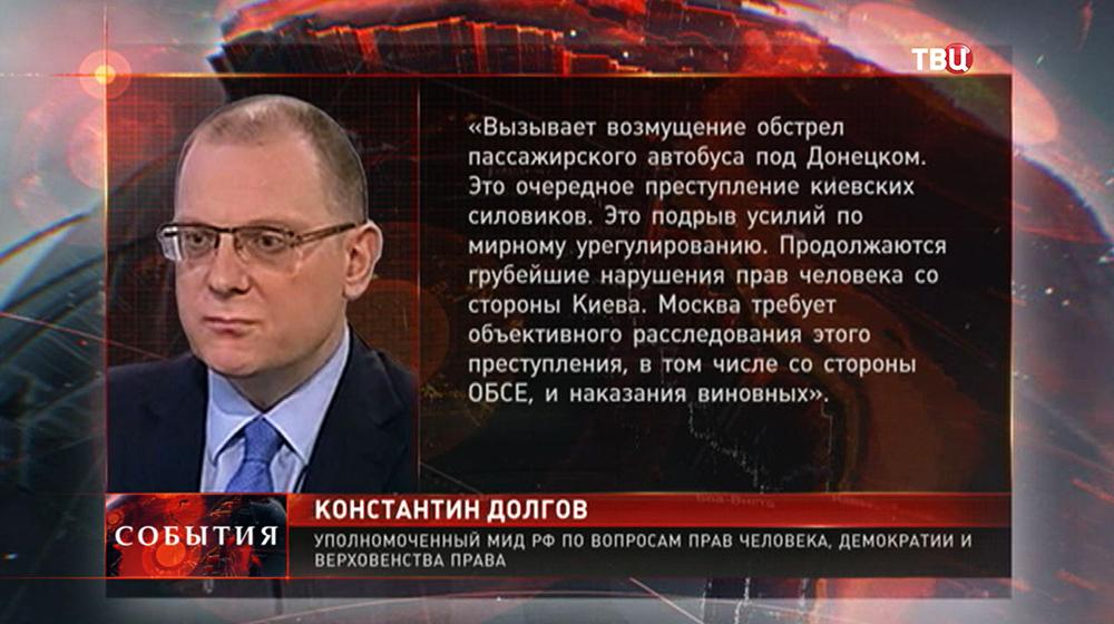 Уполномоченный МИД России по вопросам прав человека, демократии и верховенства права Константин Долгов