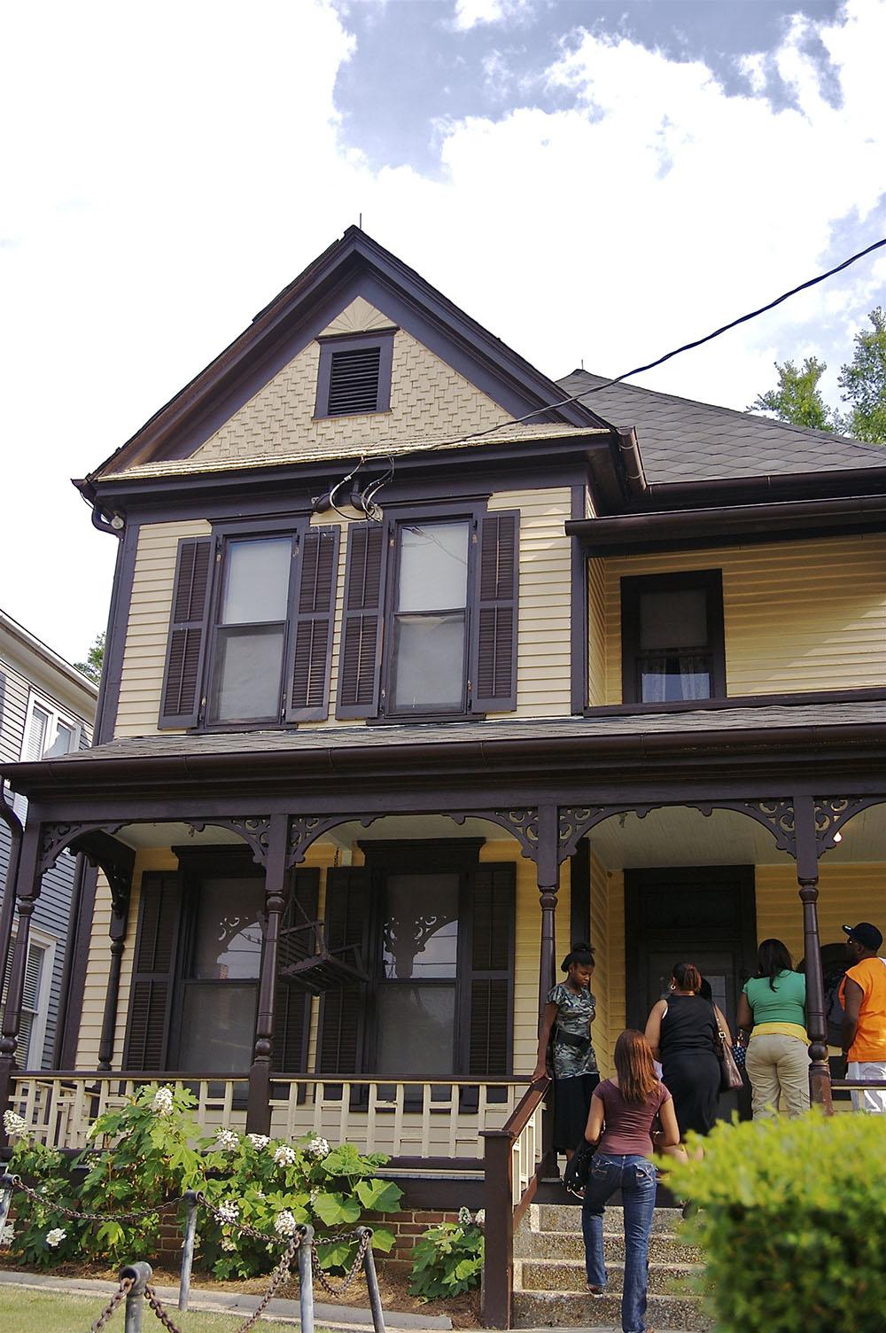 Дом в городе Атланта, в котором родился Мартин Лютер Кинг