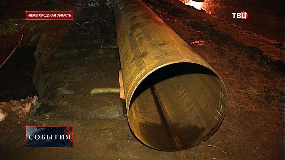 Аварийные работы на водопроводе в Нижегородской области