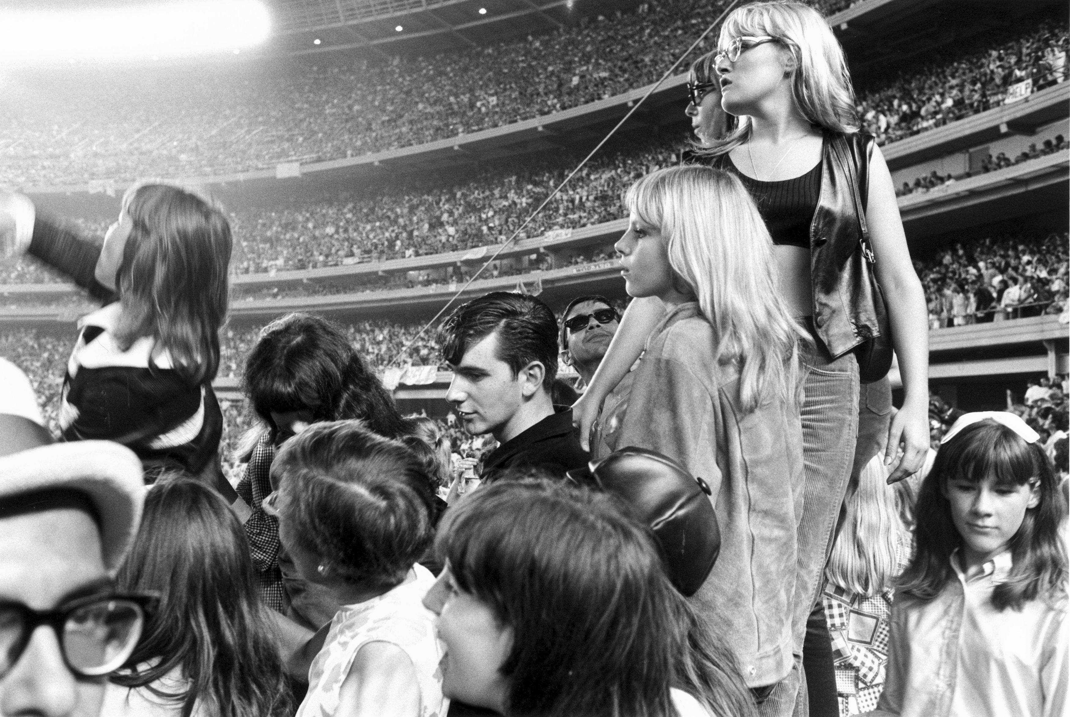 Посетители концерта The Beatles