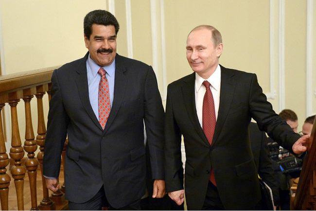 Президент России Владимир Путин и президент республики Венесуэла Николас Мадуро