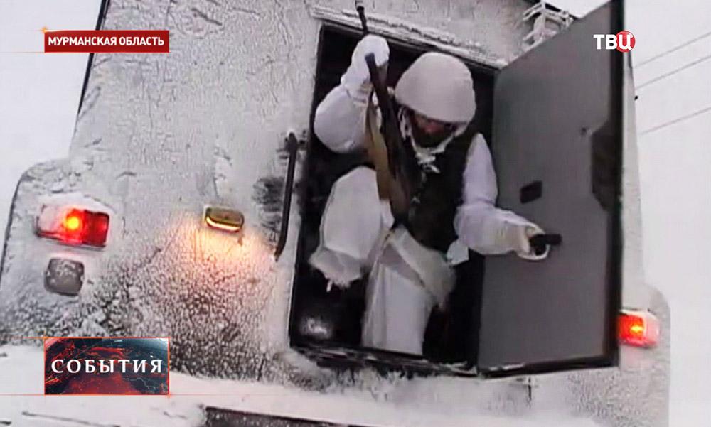 Военные учения в Мурманской области