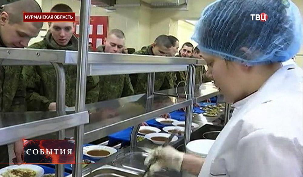 Солдаты на военной базе в Мурманской области