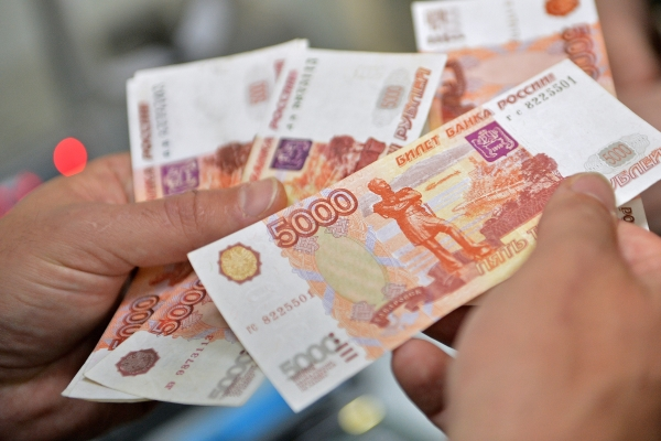 Рубли в руках