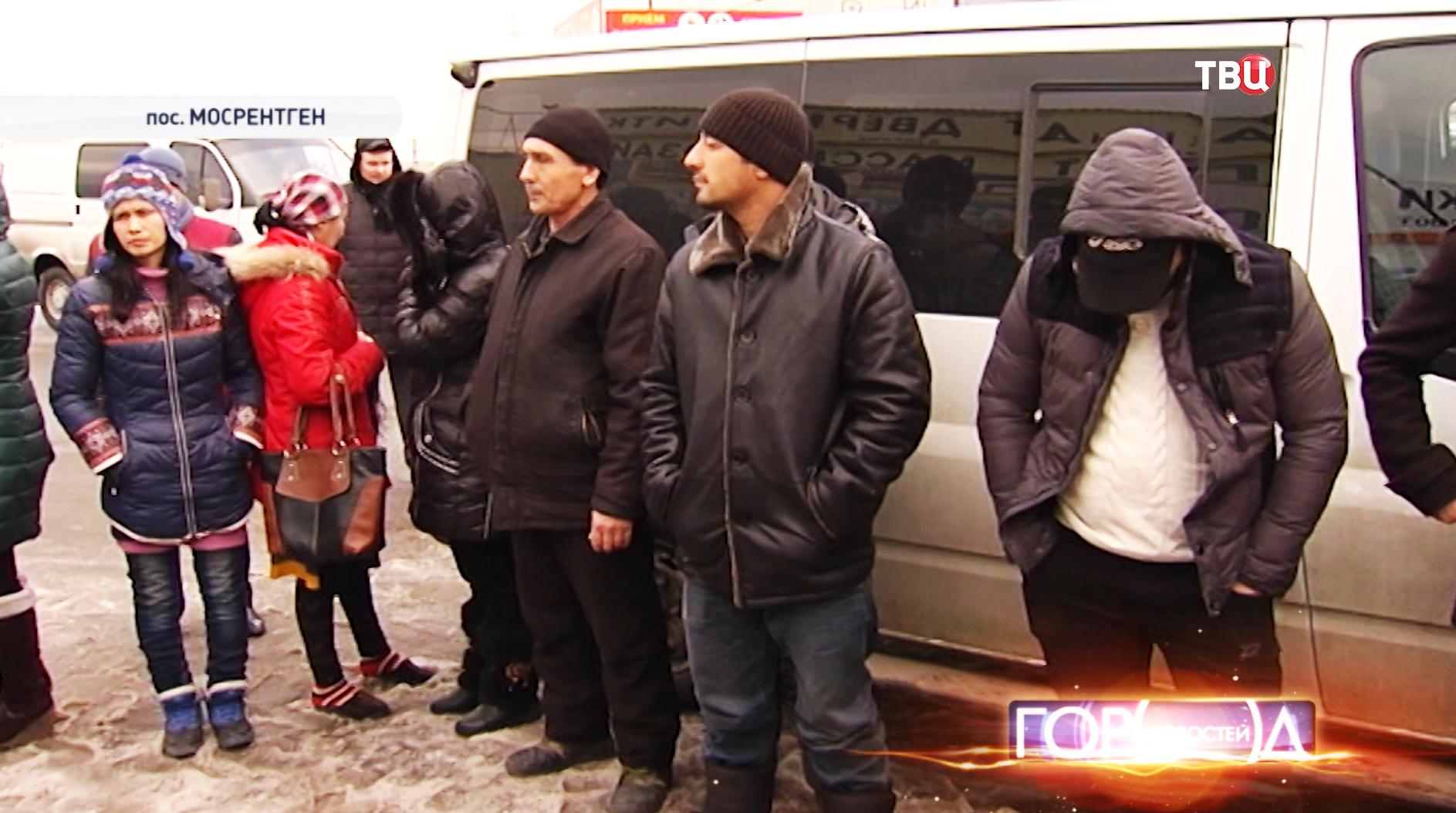 Задержанные нелегальные мигранты