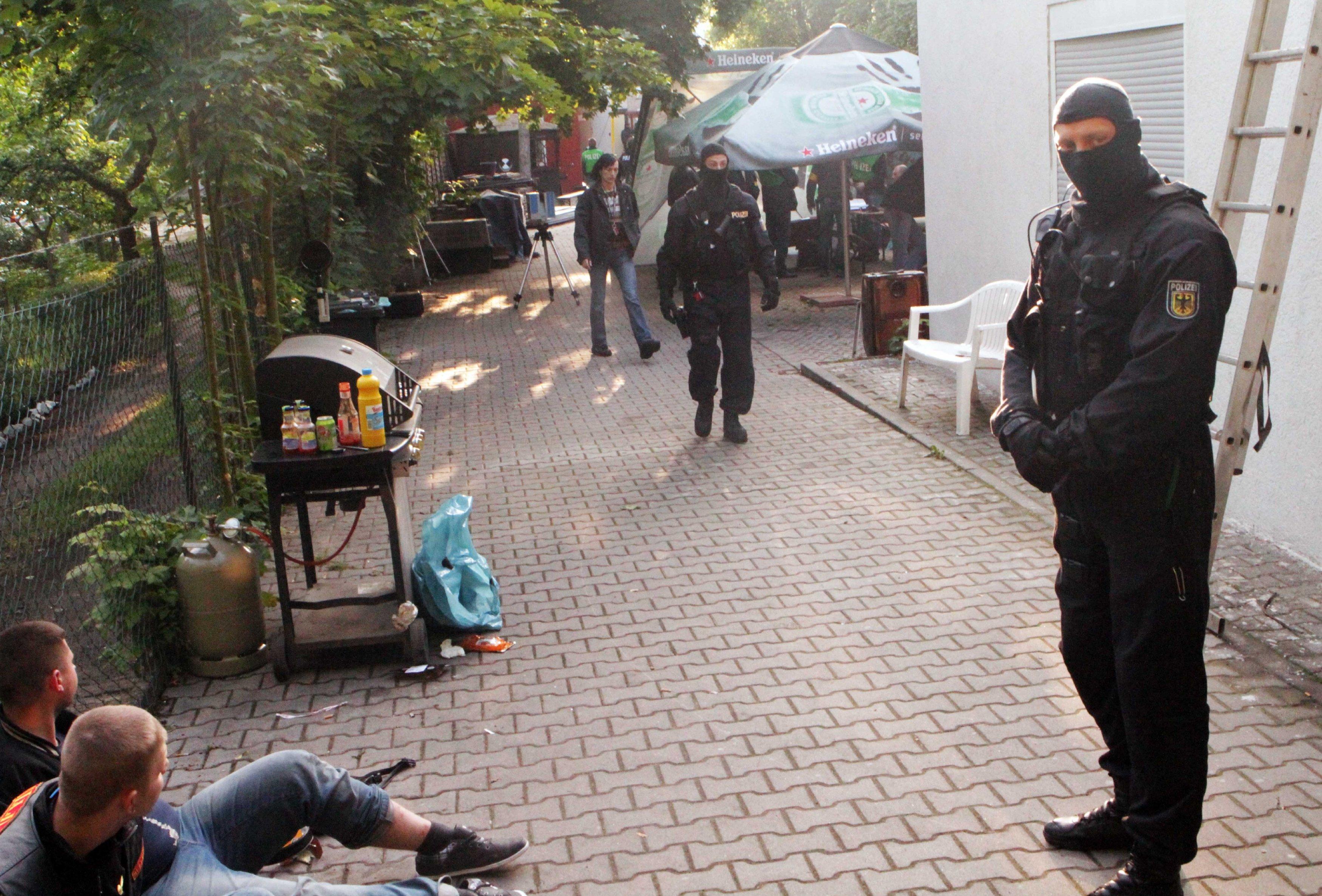 Рейды полиции Германии