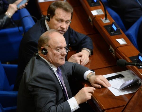 Председатель ЦК КПРФ Геннадий Зюганов и депутат Государственной Думы РФ Александр Тарнаев