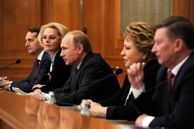 Владимир Путин на заседании Счётной палаты