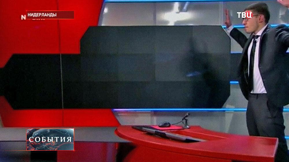 Нападение на офис телеканала NOS