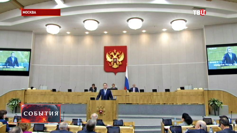 Первый вице-премьер России Игорь Шувалов в госдуме РФ