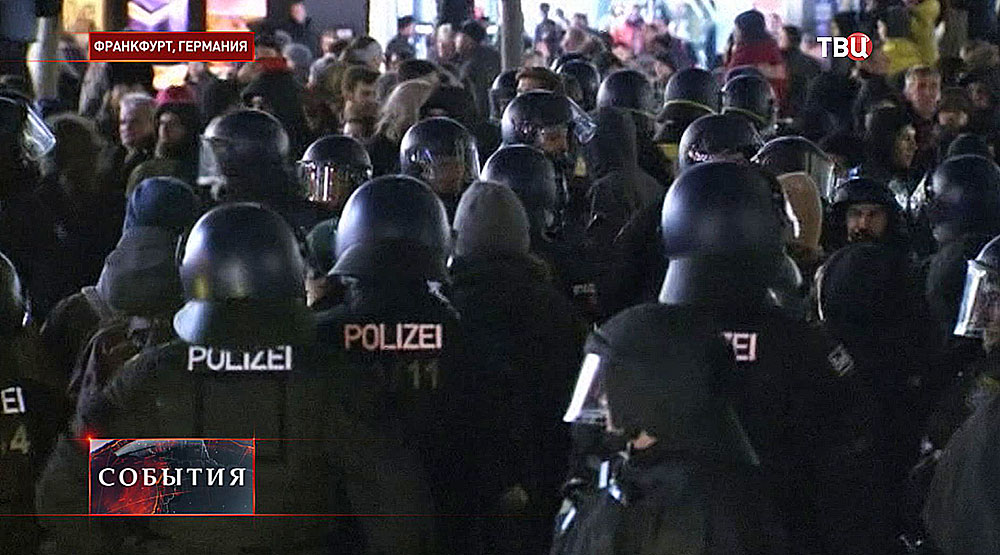 Акция пртеста в Германии