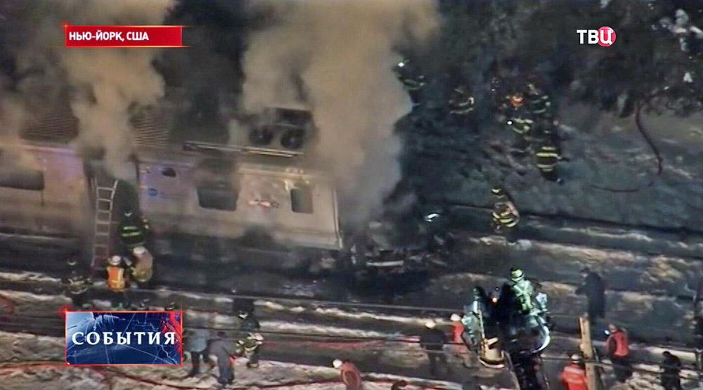 Пожарные и служба спасения на месте происшествия