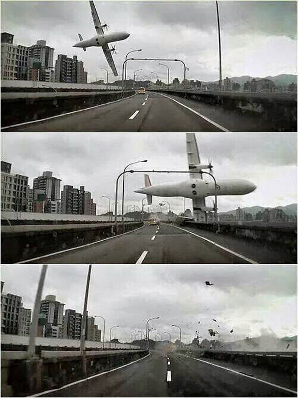 Упавший самолёт в Тайване