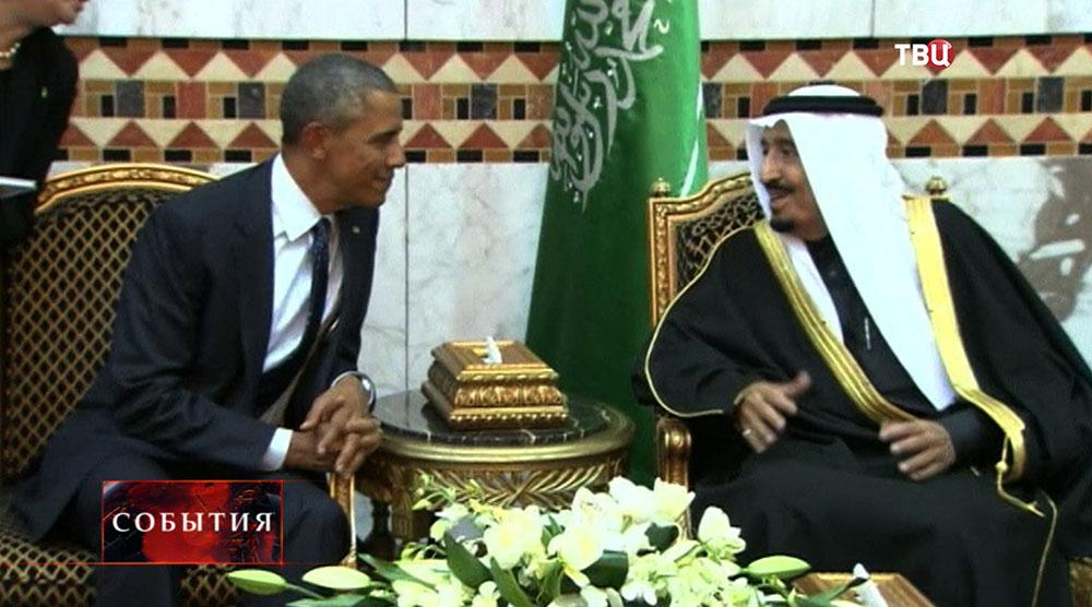 Президент США Барак Обама и Король Саудовской Аравии Абдалла ибн Абдель Азиз