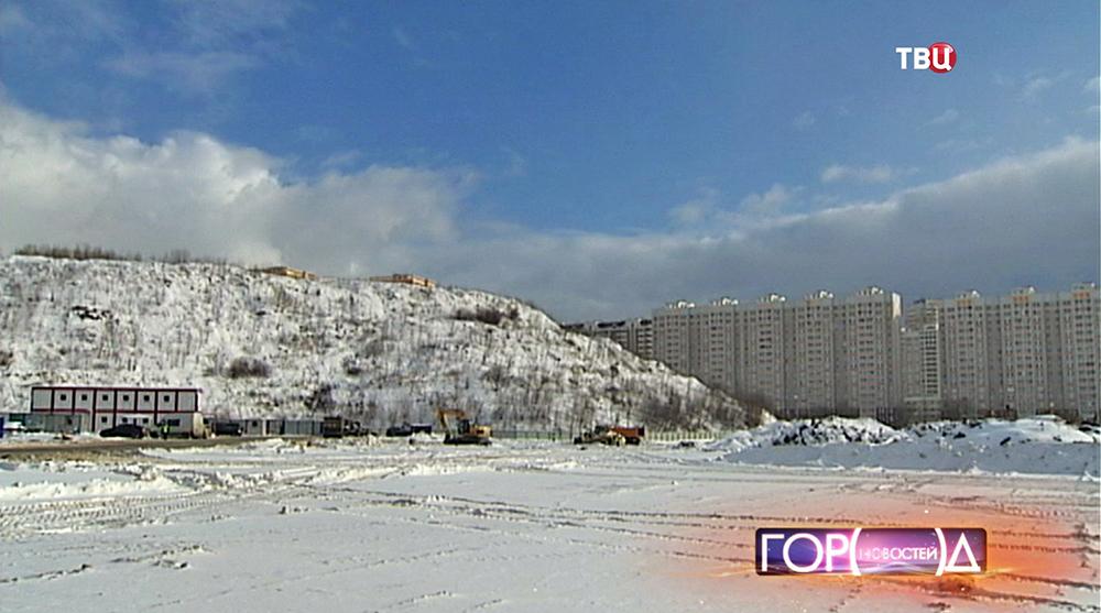 Мусорный полигон в районе Некрасовки