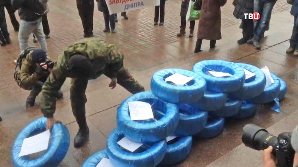 Акция протеста у здания Киевской государственной городской администрации