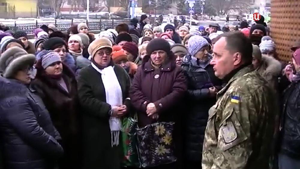 Митинг матерей против мобилизации в Краматорске