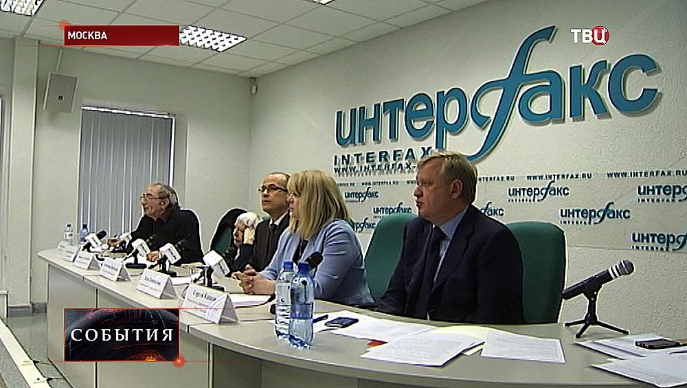 Пресс-конференции, посвященной открытому конкурсу на разработку монумента