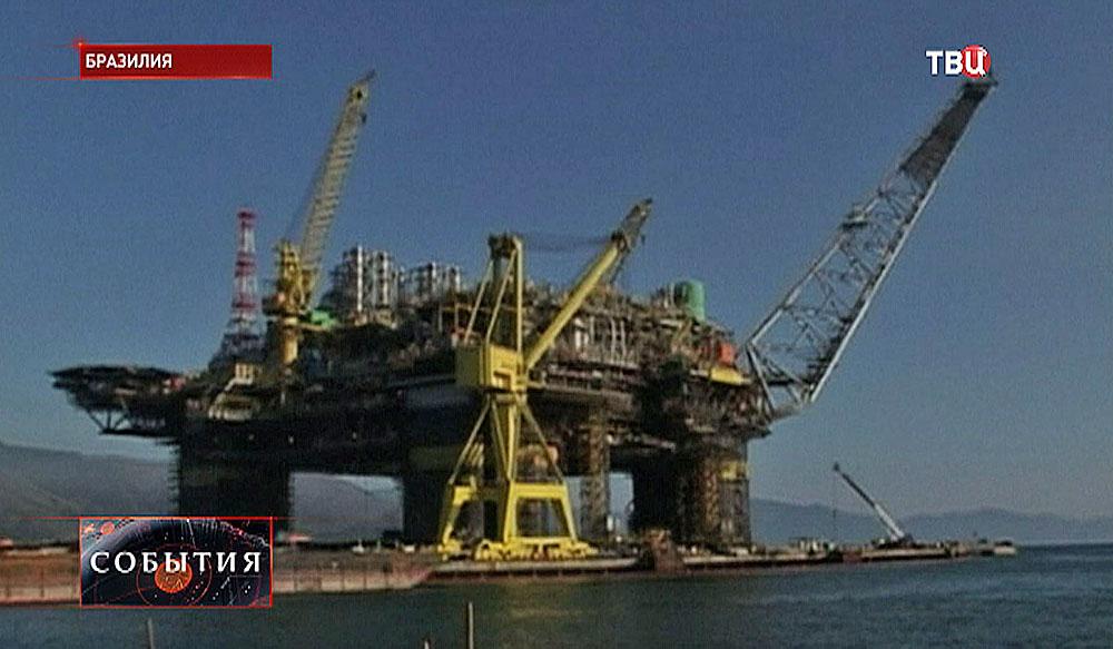 Нефтяная платформа в Бразилии