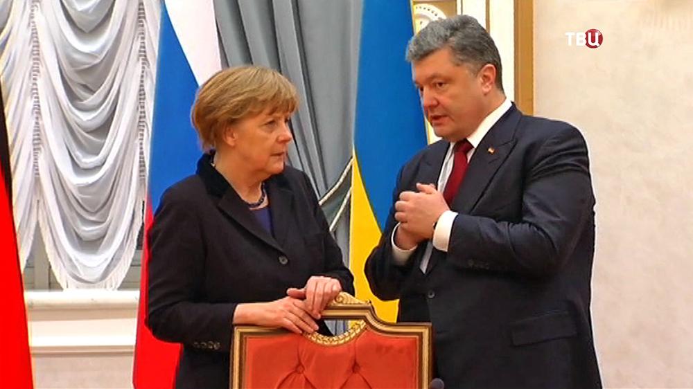 Ангела Меркель и Пётр Порошенко