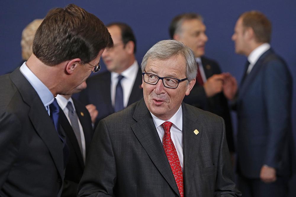 Президент Европейской комиссии Жан-Клод Юнкер на саммите глав правительств Евросоюза