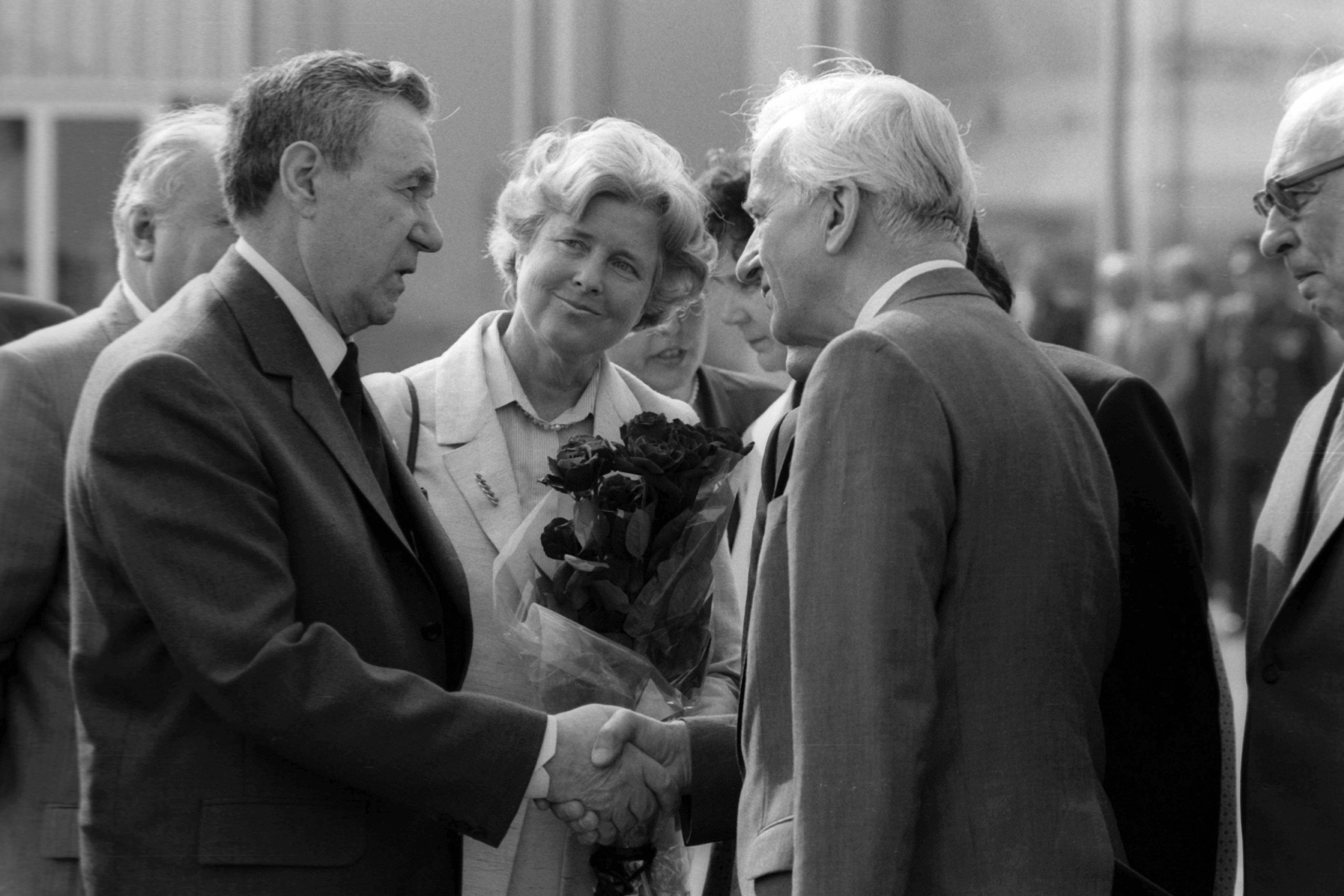Андрей Громыко и федеральный президент Германии Рихард фон Вайцзеккер (1984 - 1994 гг.) и его жена Марианна во время встречи в Москве