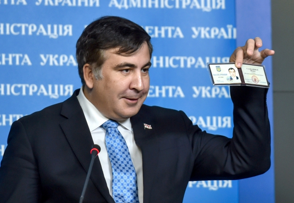 Экс-президент Грузии и советник президента Украины Михаил Саакашвили во время пресс-конференции в Киеве