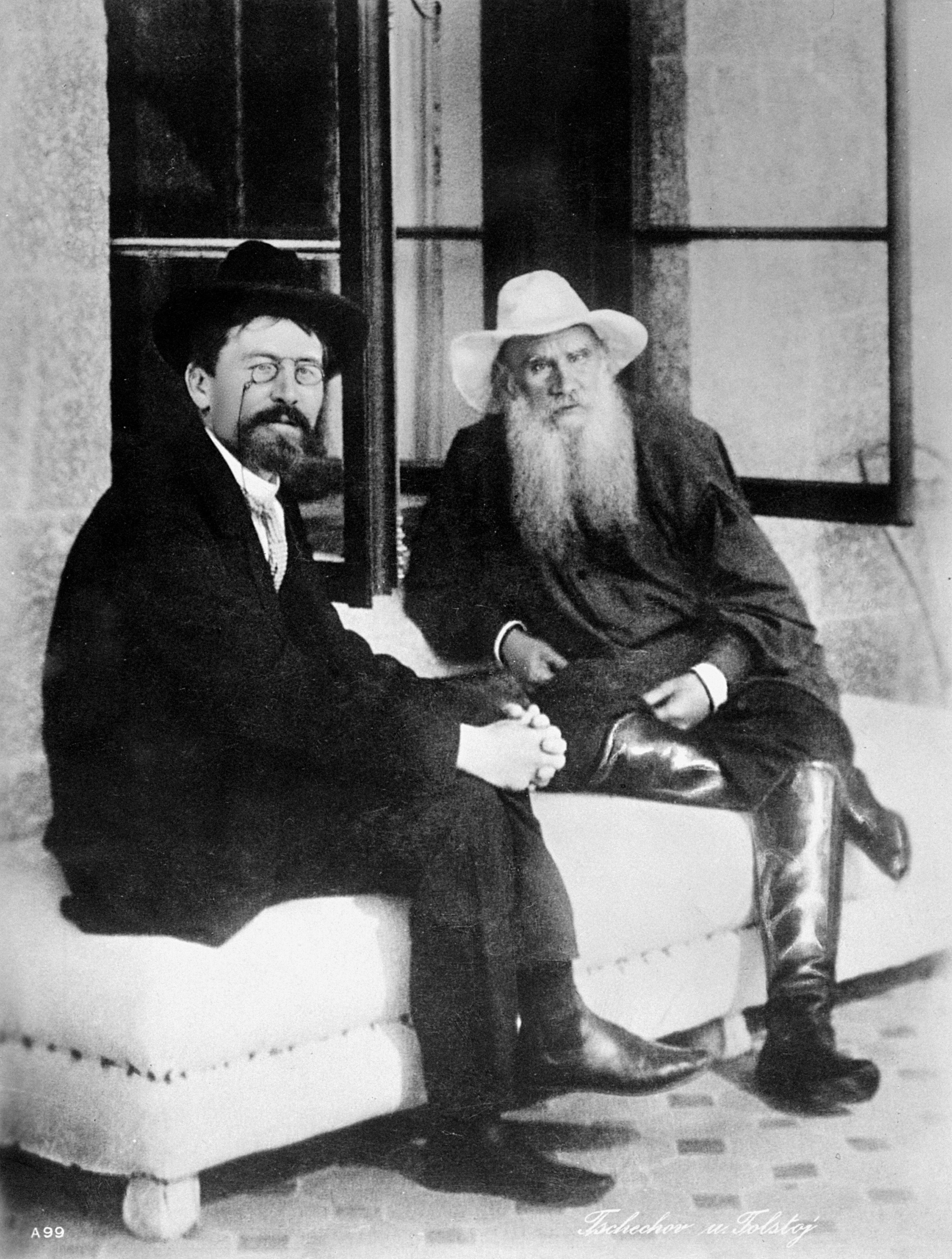 Лев Николаевич Толстой и Антон Павлович Чехов. Встреча двух писателей.