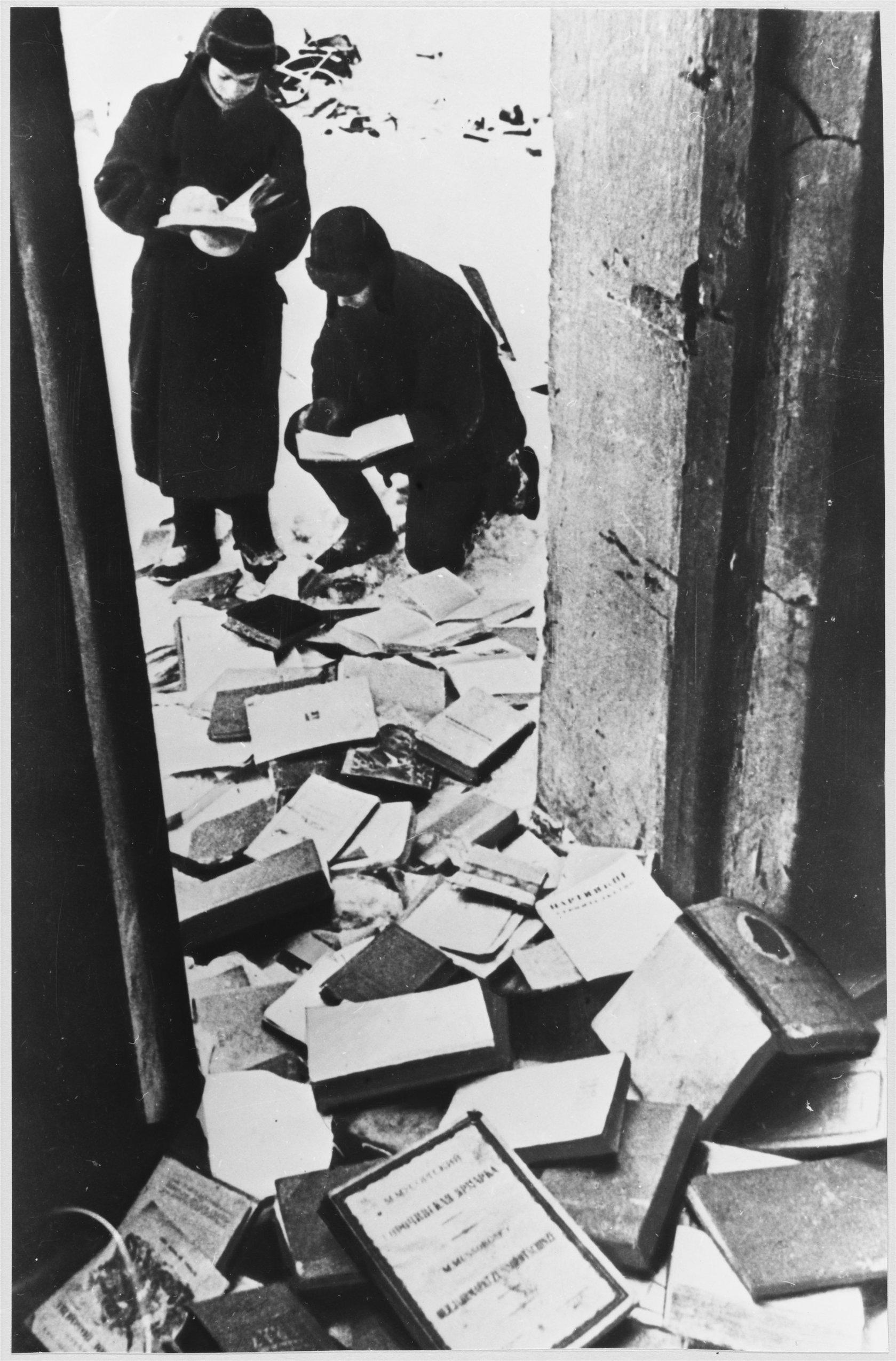 Жилище Льва Толстого, разорённое нацистами в годы Великой Отечественной войны