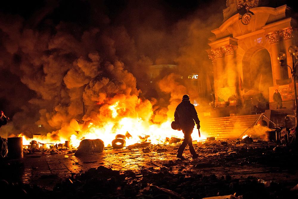 Уличные протесты на майдане в Киеве