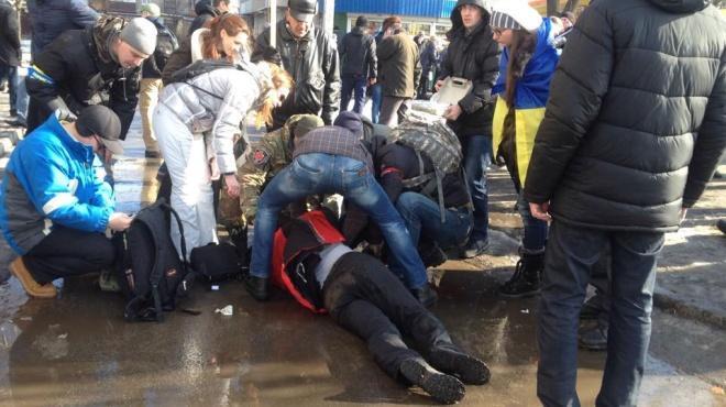 Последствия взрыва в Харькове