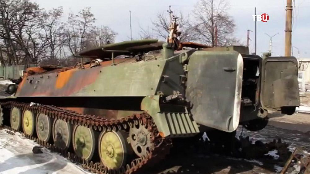 Разбитая украинская военна техника в Донецкой области