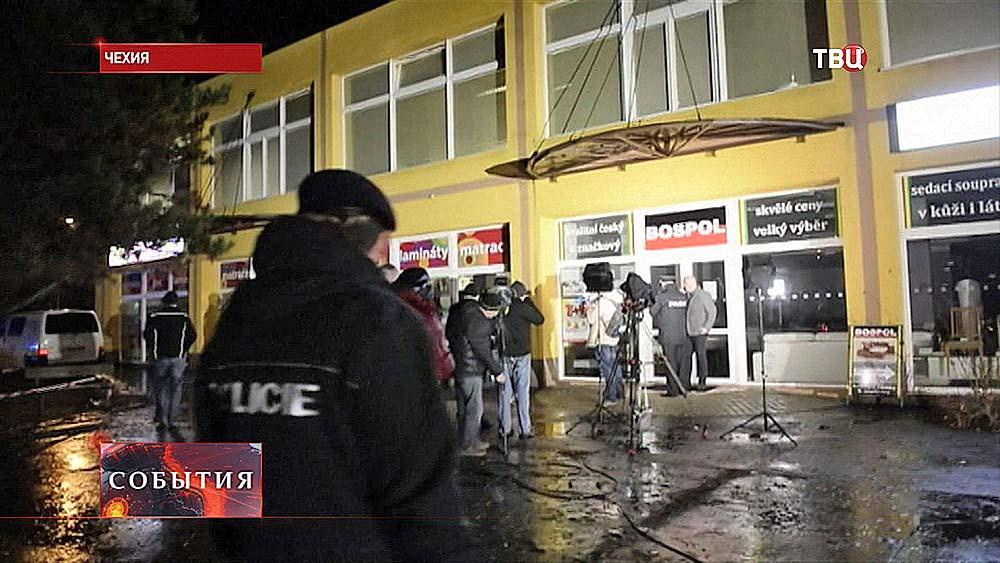 Чешская полиция на месте происшествия