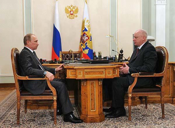 Президент Владимир Путин и председатель Следственного комитета России Александр Бастрыкин