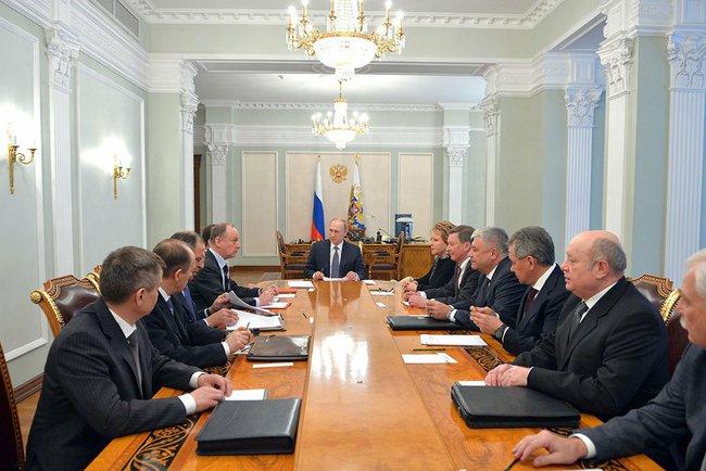 Совещание с постоянными членами Совета Безопасности РФ