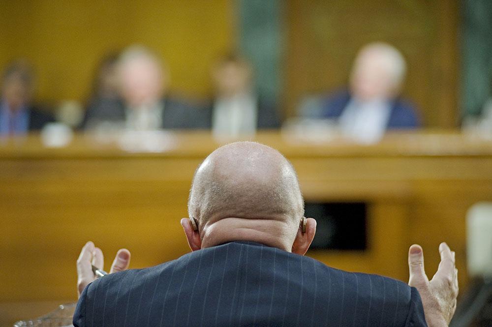 Директор национальной разведки АНБ Джеймс Клэппер в конгрессе США