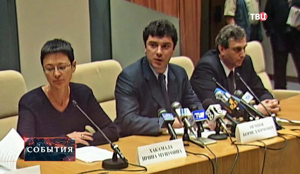 Ирина Хакамада и Борис Немцов