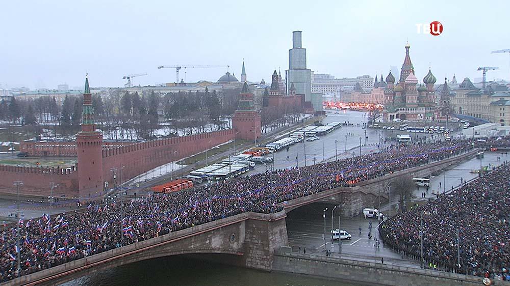 Траурный марш в Москве в память о политике Борисе Немцове
