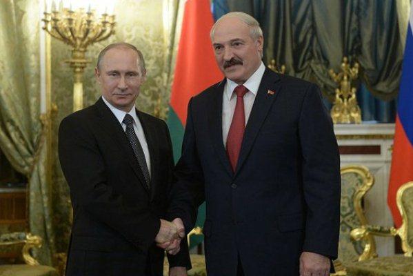 Владимир Путин и Александр Лукашенко в Кремле